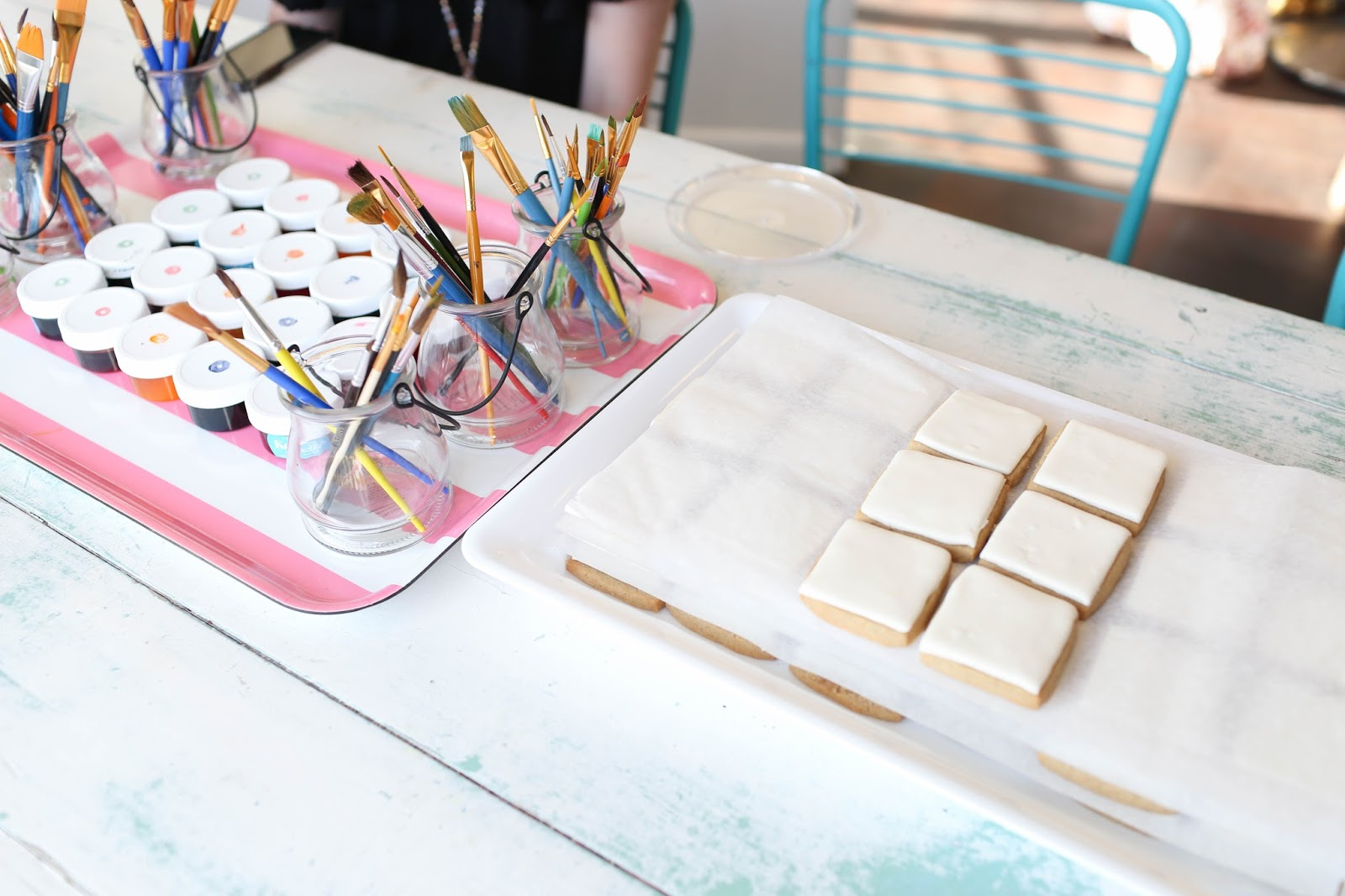 kellie's baking co watercolor cooking painting party