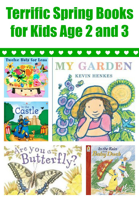 Spring Books for Kids Age 2 and 3 with extension activities