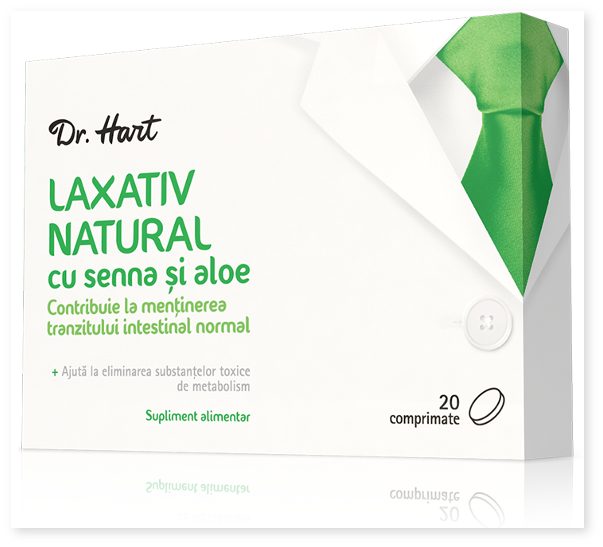 Dr. Hart: Laxativ natural cu senna si aloe - prospect
