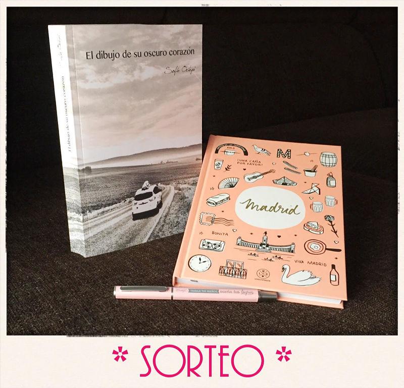 Foto del sorteo de un ejemplar en papel del libro El dibujo de su oscuro corazón de la autora Sofía Ortega