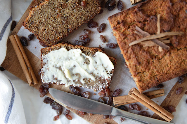 Raisin Bread (Dairy Free, Nut Free and Grain Free)