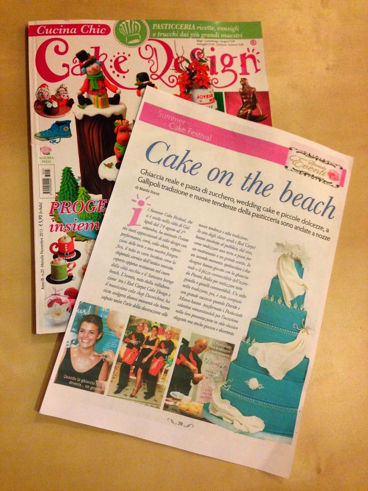 Red Carpet Cake Design®: ARTICOLO SU CUCINA CHIC CAKE DESIGN ...