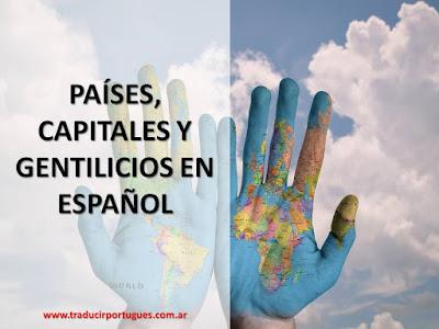 países, capitales, gentilicios, español, rae