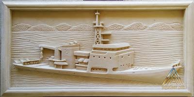 Relief kapal laut