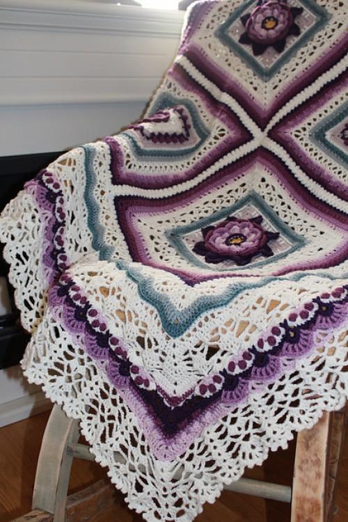 Wild Roses Blanket - Crochet Pattern