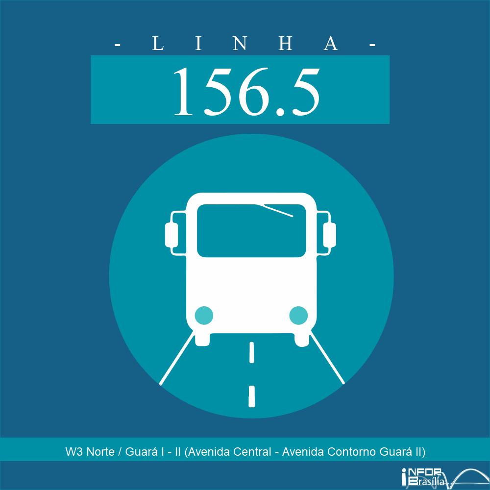 Horário de ônibus e itinerário 156.5 - W3 Norte / Guará I - II (Avenida Central - Avenida Contorno Guará II)