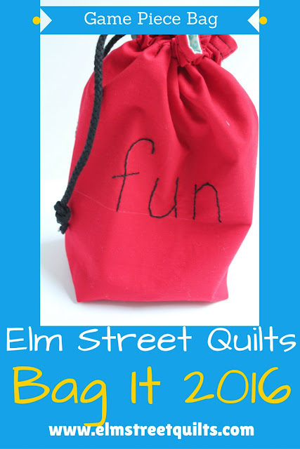 Elm Street quilts Game Piece Bag Tutorial