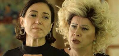 Valentina (Lilia Cabral) em cena com Marcos Paulo (Nany People) na novela das nove da Globo