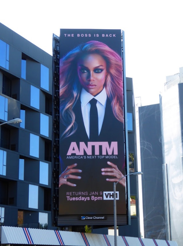 Americas Next Top Model season 24 Tyra Banks billboard