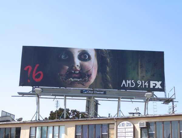AHS ?6 doll face billboard