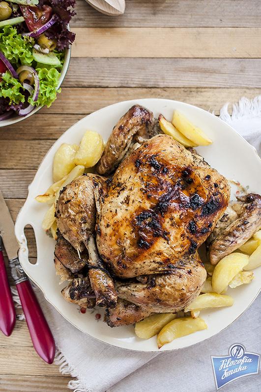 Kurczak pieczony z cytryną