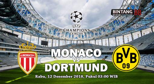 Prediksi Skor Monaco vs Borussia Dortmund 12 Desember 2018