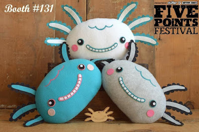 Five Points Festival Exclusive Wooper Looper Plush Pillows by Gary Ham x Lana Crooks