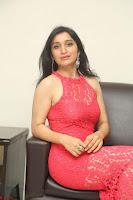 Sakshi Kakkar in Red Legsplit Sleeveless Gown at Dare movie Press meet ~  Exclusive 065.JPG