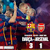 FCB defeats Arsenal 3-1