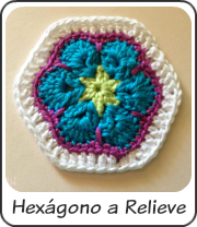 Hexágono a relieve
