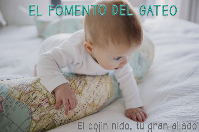 cojín nido mimuselina blog fomento gateo bebé