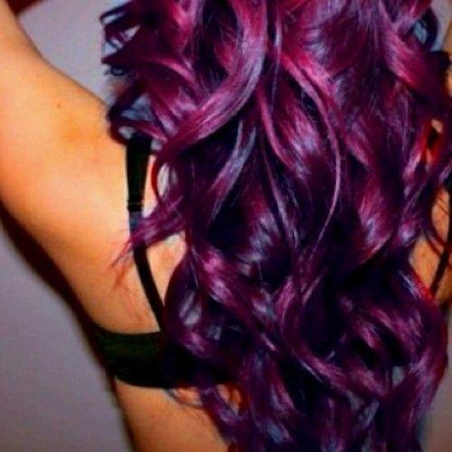 Not my hairs  I has a sad    Dark Purple Red Black Hair