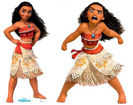 Moana figurino, princesa Disney