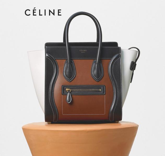 22540d858f63 Micro Luggage Handbag in Chestnut Multicolour Glazed Calfskin MATERIALS —  Crocodile