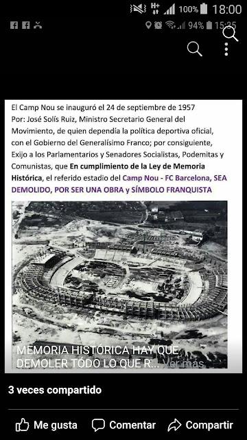 Tamé han de assolá lo Camp Nou del F.C. Barselona