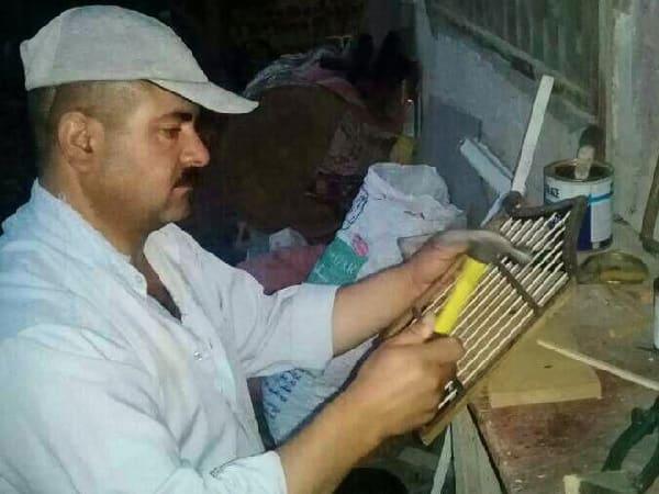 بسام سراي الدين.فنان يصمم مجسمات خشبية مستمدة من الحياة.؟