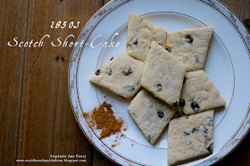 Civil War Era Scotch Short Cake Recipe with Zante Currants. Keeps well and good for shipping from the home front to the troops.