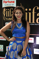 Madhu Shalini Looks Super Cute Slim trim Blue Choli Ghagra IIFA Utsavam Awards 33.JPG