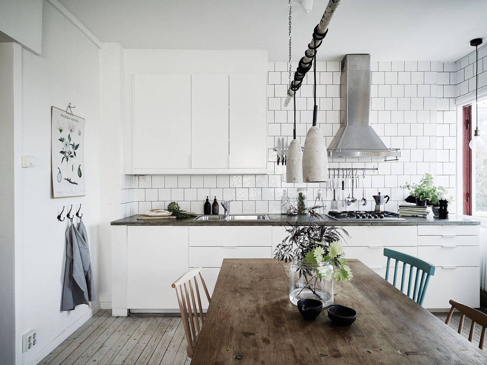 drewno biel white kitchen