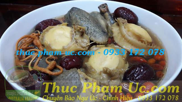 món canh bổ dưỡng sức khoẻ với bào ngư úc