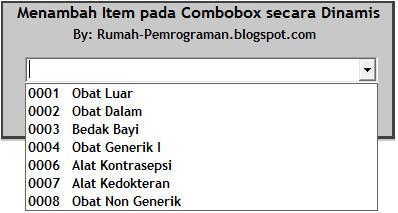 Menambahkan Item pada ComboBox secara Dinamis