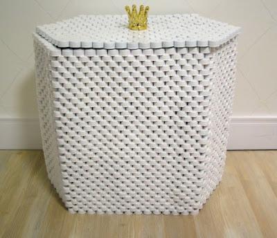 reciclar reciclagem tampinha tampinhas garrafa pet artesanato sustentabilidade sustentavel cesto roupa