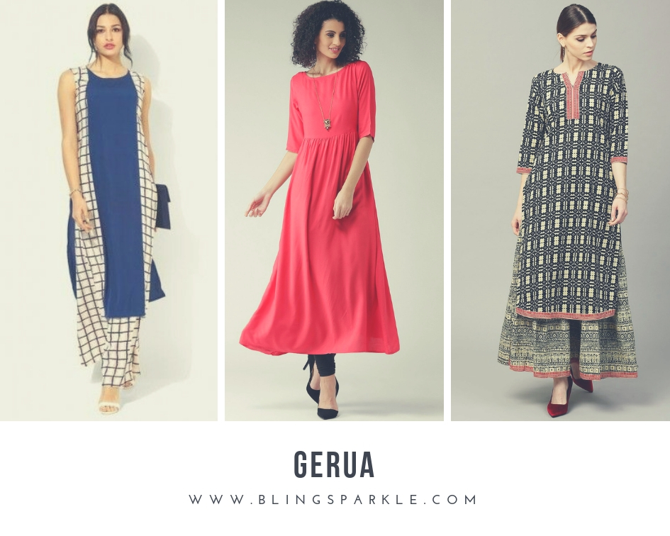9a442236d Gerua is an apparel brand for the new age woman who likes to make a  statement with her Indian wear. It gained fame with its unique styles on  various ...