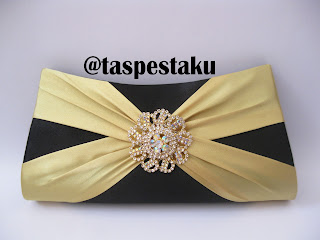 Handmade Tas Pesta Cantik Hitam dan Gold