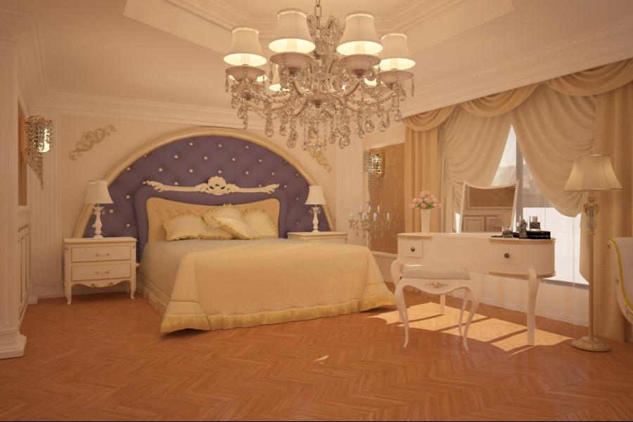 Nobili Design | Amenajari interioare case clasice - Amenajare interiara dormitor clasic Constanta