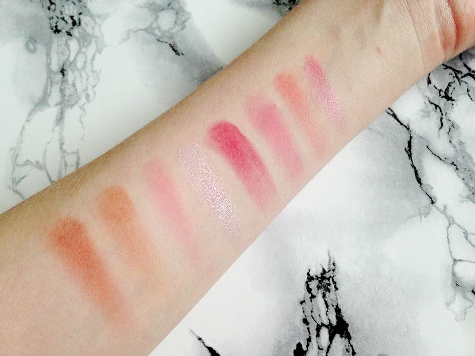 Makeup Revolution Ultra Blush Palette Sugar and Spice Swatches