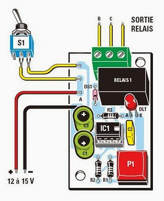 un temporisateur dur e fixe base de circuit int gr ne555. Black Bedroom Furniture Sets. Home Design Ideas