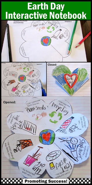 Earth Day interactive notebook activities for elementary kids