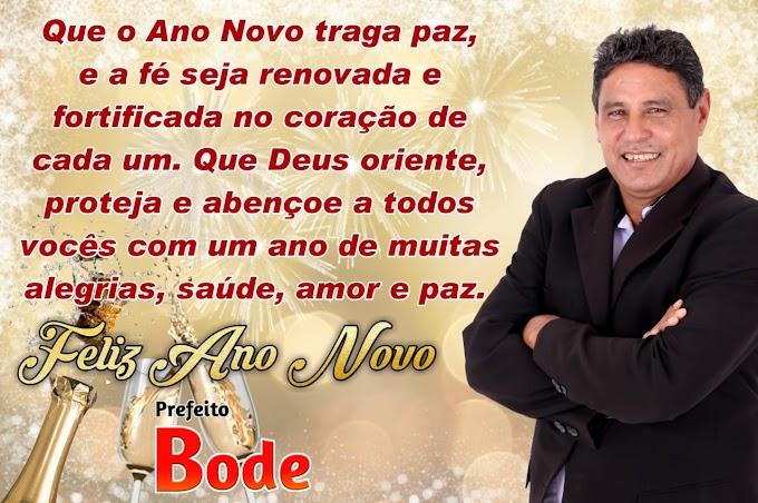 Mensagem de Ano Novo do prefeito de Mata Roma, Bode