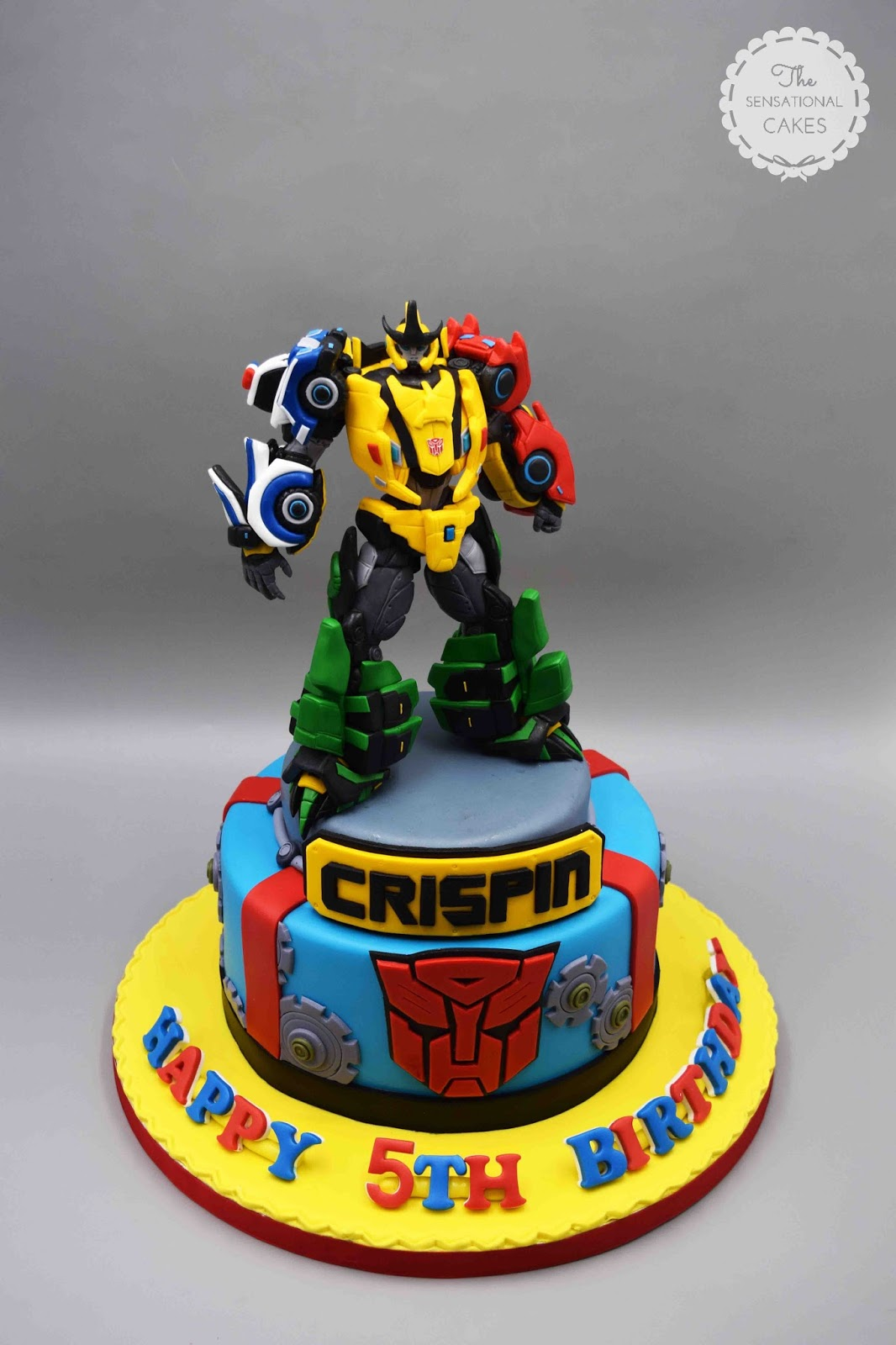 Transformers Theme Boy Birthday 3D Cake Singapore