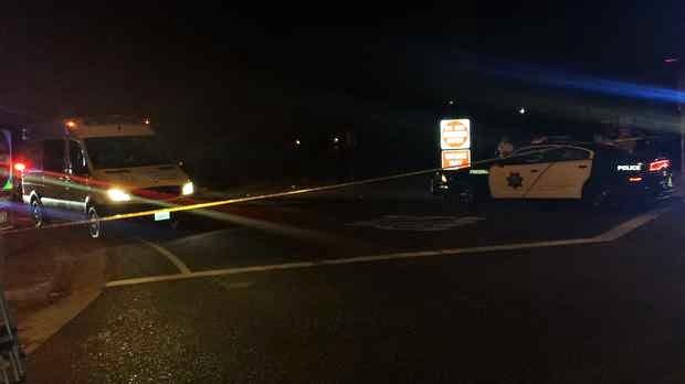 fatality fresno car crash pedestrian highway 99 stanislaus street
