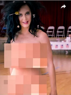 ¡Katy Perry se desnuda por una buena causa!
