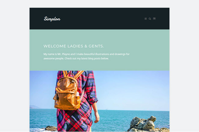 Simplon - Responsive Blogger Template