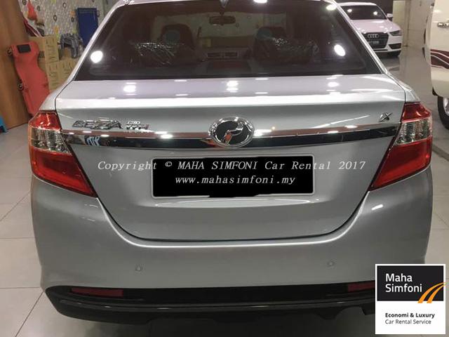 Perodua bezza 1.3 auto silver belakang