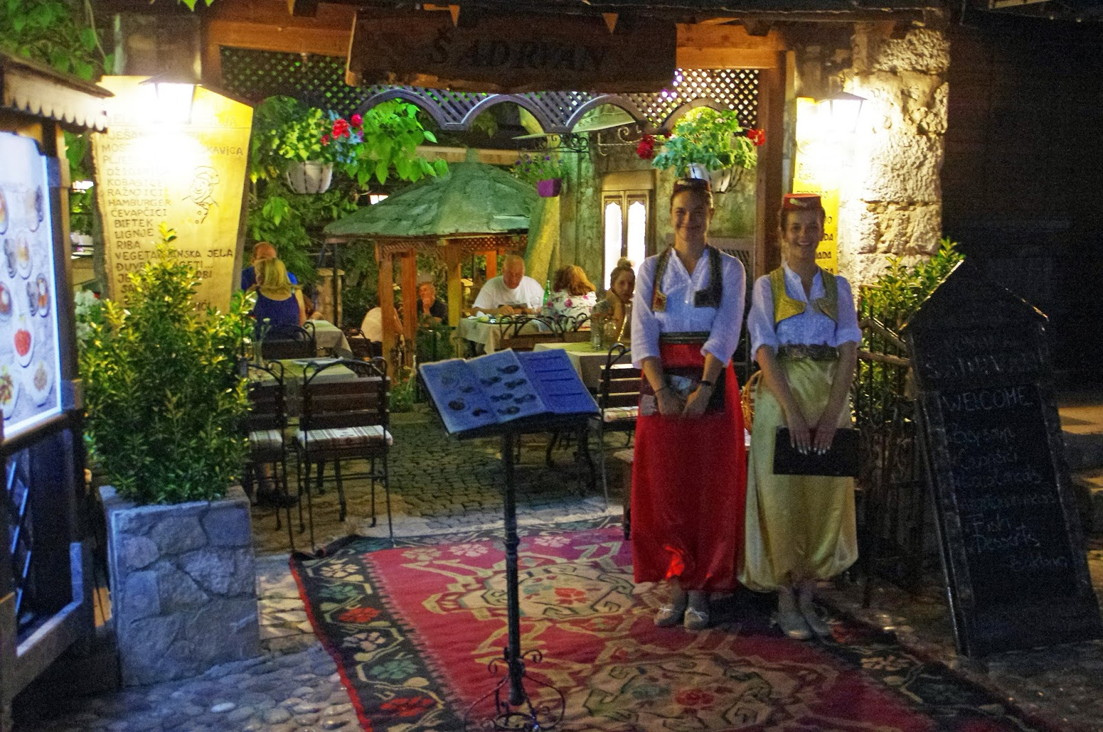 Traditional Bosnian cuisine in Mostar