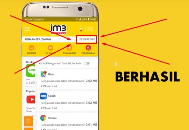 Memakai Aplikasi MyIm3 Untuk Cek No Indosat 2