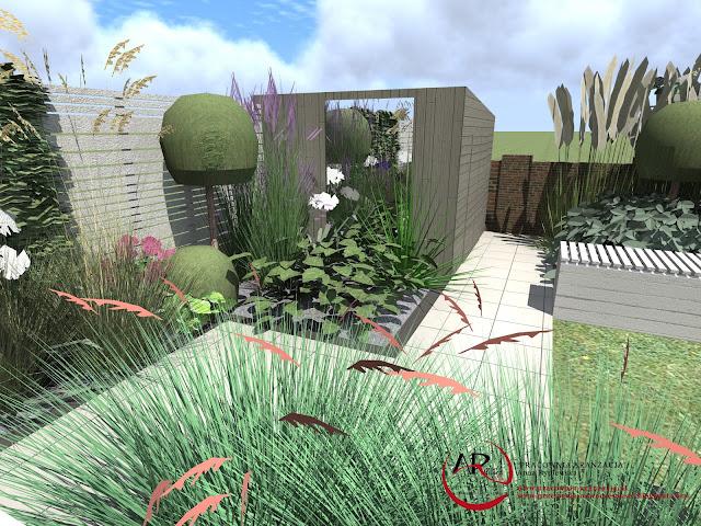nowoczesny ogród o małej powierzchni