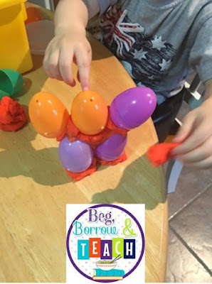 Easter Plastic Egg STEAM activities.