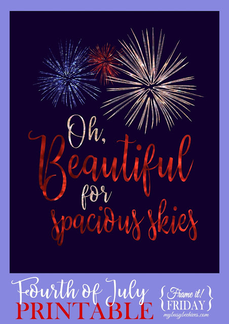 4th of July, fireworks printable