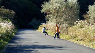 エフダブスケート最寄のスライダー達と早朝ロングスケート練習